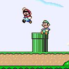 Super Mario and Luigi Jump - iPhone cover by PippoNoise