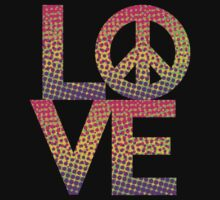 LOVE Peace Color Halftone by Lisann