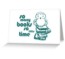 Book Owl Greeting Card