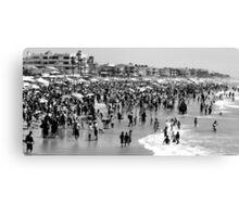 Summer Beach in Black & White Canvas Print
