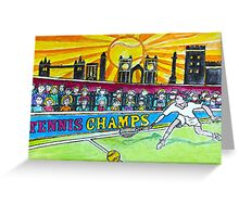 Tennis Champs Greeting Card