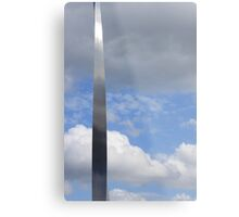 A silver sliver through the clouds Metal Print