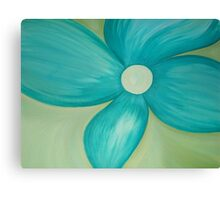 Teal Flower Canvas Print