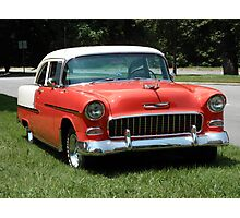 1955 Chevy Bel Air with Dry Brush Effect Photographic Print