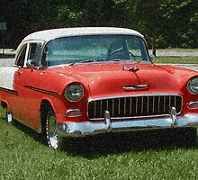 1955 Chevy Bel Air with Sponge Painting Effect by Frank Romeo