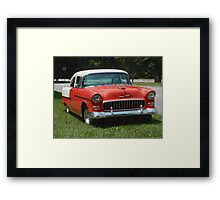 1955 Chevy Bel Air with Sponge Painting Effect Framed Print