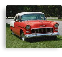 1955 Chevy Bel Air with Sponge Painting Effect Canvas Print