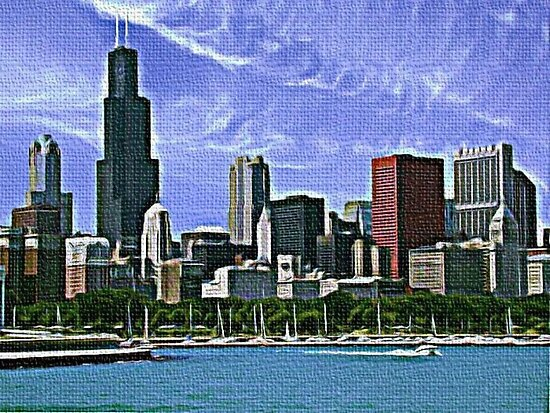 CHICAGO SKYLINE. by Terry Collett