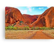 Uluru - Painted Canvas Print