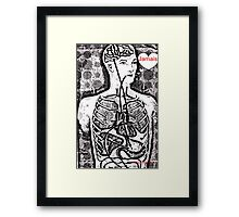 Jamais  Body Map  Design  Framed Print