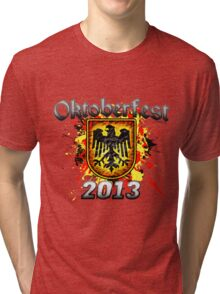 Oktoberfest Eagle Shield 2013 Tri-blend T-Shirt