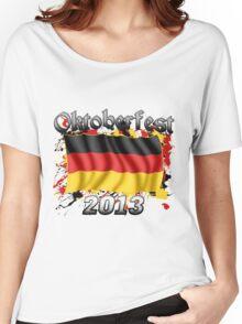 Oktoberfest German Flag 2013 Women's Relaxed Fit T-Shirt