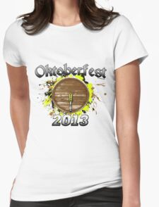 Oktoberfest Keg 2013 Womens Fitted T-Shirt