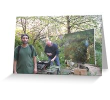 Art4Space/Me/Painter: Geoff Routh (2 of 2) -(010513)- Digital Photo/FujiFilm FinePix AX350 Greeting Card