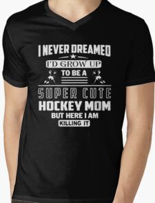 Hockey Mom Super Cute Mens V-Neck T-Shirt