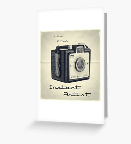 Instant Artist Greeting Card