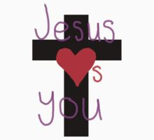 Jesus loves you One Piece - Short Sleeve