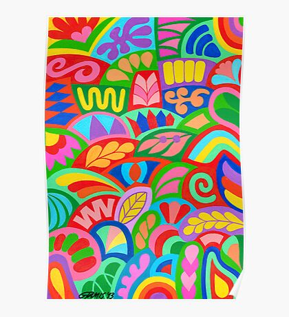 POTPOURRI COLOURS ARTWORK Poster