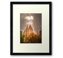 Heaven Shining Down on the Temple Framed Print