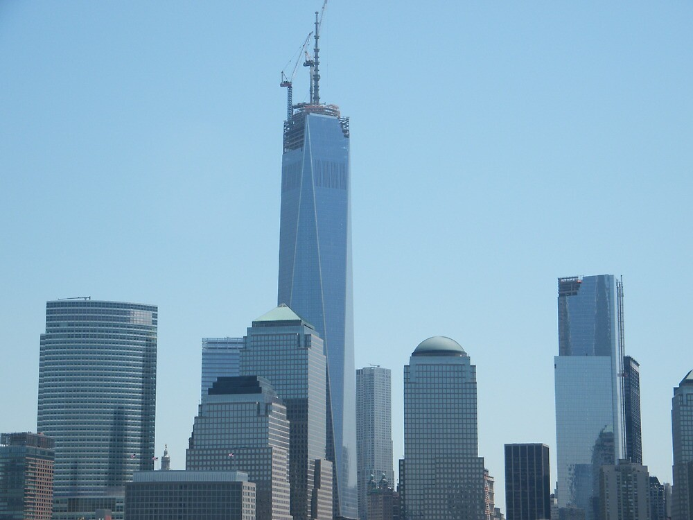The New World Trade Center Under Construction, View from Jersey City, New Jersey by lenspiro