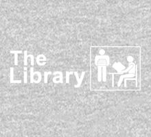 The Library Logo in White One Piece - Long Sleeve