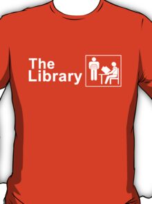 The Library Logo in White T-Shirt