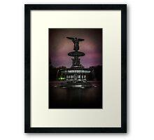 Bethesda Fountain at Night Framed Print