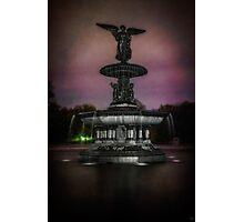 Bethesda Fountain at Night Photographic Print