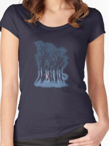 Evil woods At Night Women's Fitted Scoop T-Shirt