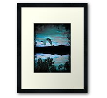 ©DigiArt Blue Clouds World I Framed Print