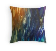 Grass Leaves in Color Throw Pillow