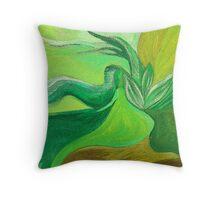 Lady on the Lake Throw Pillow