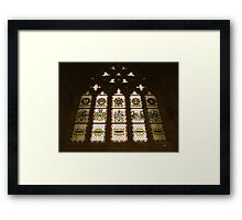 Exeter Cathedral window Framed Print