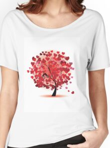 Red Hearts Tree Women's Relaxed Fit T-Shirt