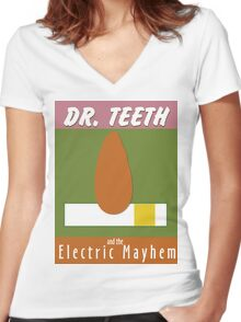 Dr. Teeth & the Electric Mayhem Women's Fitted V-Neck T-Shirt