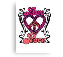 Love Peace Heart Canvas Print