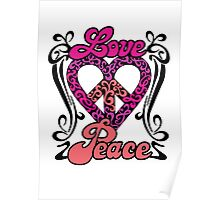Love Peace Heart Poster