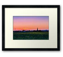 Dusk in rural Kent Framed Print