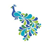 Abstract Peacock Photographic Print