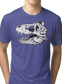 T-Rex Skull Tri-blend T-Shirt