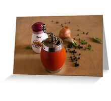 meal pepper Greeting Card