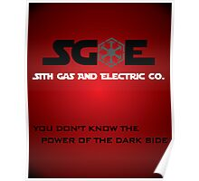 Sith Gas And Electric Co. Poster