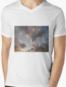 The Cloudy Sunset Mens V-Neck T-Shirt