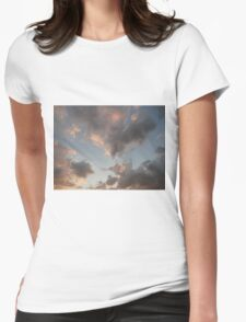 The Cloudy Sunset Womens Fitted T-Shirt