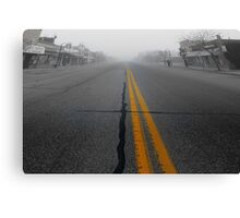 In the early morning fog Canvas Print