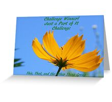 Banner for challenge Winner - Just A Part of It Greeting Card