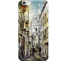 Montmartre 11 in colour iPhone Case/Skin