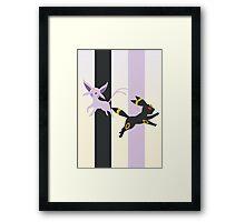 Espeon - Umbreon Framed Print