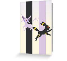 Espeon - Umbreon Greeting Card
