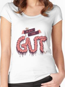 Go With Your Gut Women's Fitted Scoop T-Shirt